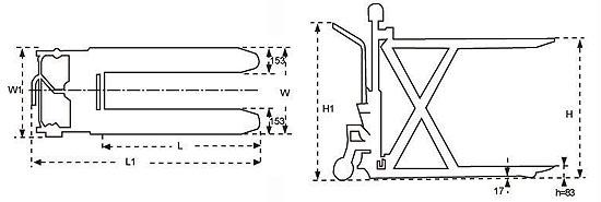 脚踏剪式升高液压搬运车